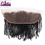 Frontal Lace Closure - SENITAS Unprocessed Kinky 13x4 Natural Color 100% Human Remy Virgin Hair. - Senitas Virgin Hair Extension and Wigs