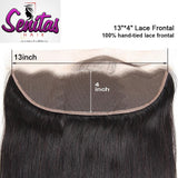 Unprocessed Straight Lace Frontal with baby hair 13x4 Natural Color 100% Human Virgin Hair