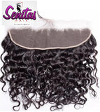 Frontal Lace Closure - Natural Water Wave with baby hair 13x4 Natural Color 100% Human Virgin Hair - Senitas Virgin Hair Extension and Wigs