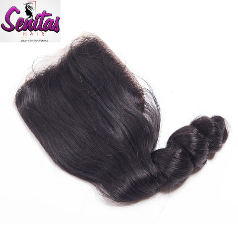 TOP CLOSURE - LOOSE WAVE - 100% VIRGIN LACE CLOSURE