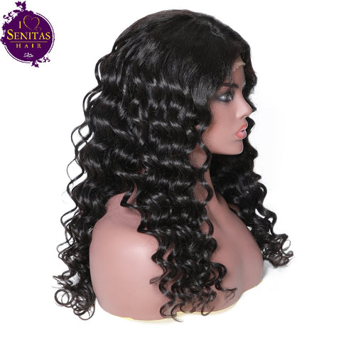 360 Frontal Wig Loose Wave 100% Virgin Human Hair Wig on Sale 180% Density - Senitas Virgin Hair Extension and Wigs