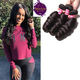 Brazilian Loose Wave 3 Bundles. 100% Virgin Remy Unprocessed Human Hair Weaves... Senitas Hair - Senitas Virgin Hair Extension and Wigs