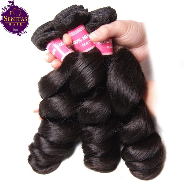 Brazilian Loose Wave 3 Bundles. 100% Virgin Human Hair Weaves... Senitas Hair