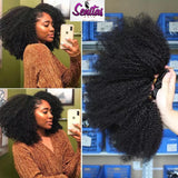 UNPROCESSED  MONGOLIAN AFRO KINKY CURLY REMY HAIR.