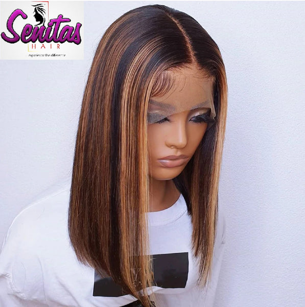 Handmade Customized Wig - Custom Unit -  Ombre Mixed Color - Straight