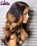 Handmade Customized Wig - Custom Unit -  Ombre Mixed Color - Body Wave