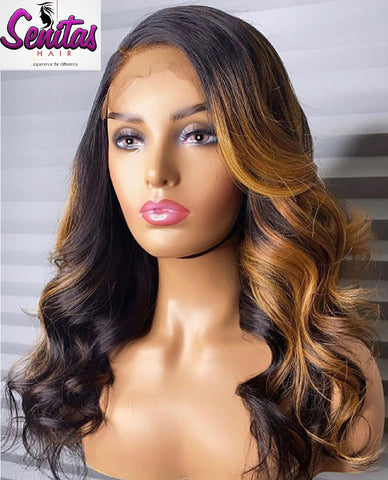 Handmade Customized Wig - Custom Unit -  Ombre Mixed Color - Wavy