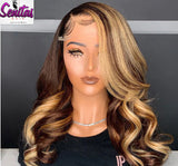 Handmade Customized Wig - Custom Unit -  Ombre Mixed Color - Body Wave Highlighted