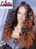 Handmade Customized Wig - Custom Unit -  Ombre Mixed Color - Loose Wave