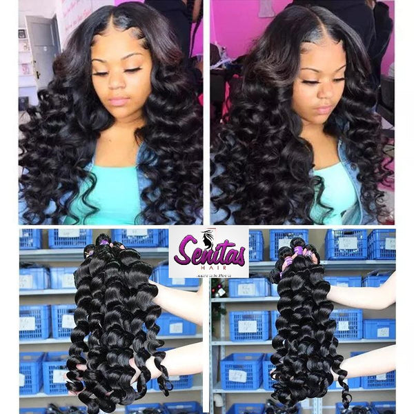 100% LOOSEWAVE UNPROCESSED HUMAN VIRGIN HAIR.