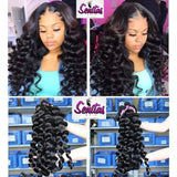 100% MAGIC LOOSEWAVE UNPROCESSED HUMAN REMY VIRGIN HAIR.