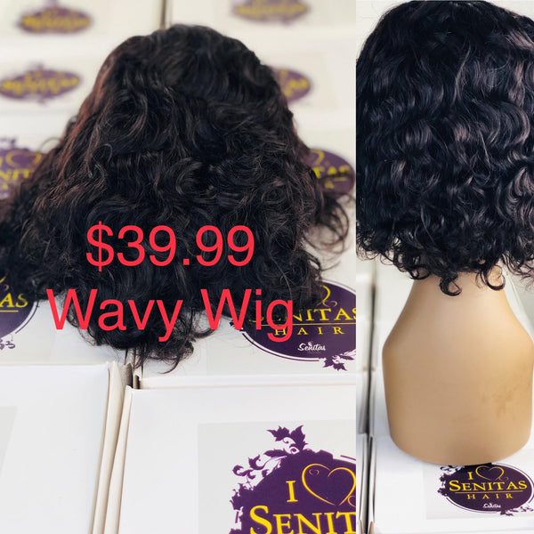 Promo Wigs for $39.99. Quick and Easy Wear. Senitas Wavy on Sales