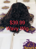 Promo Wigs for $39.99. Quick and Easy Wear. Senitas Wavy on Sales - Senitas Virgin Hair Extension and Wigs