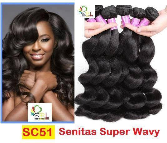 Senitas Super Curls - SC51 Wavy - Senitas Virgin Hair Extension and Wigs