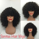 SENITAS PREMIUM CURLY FULL LACE GLUE LESS WIG - Senitas Virgin Hair Extension and Wigs