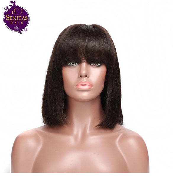 Wig Bob Straight Wig - Senitas Virgin Hair Extension and Wigs
