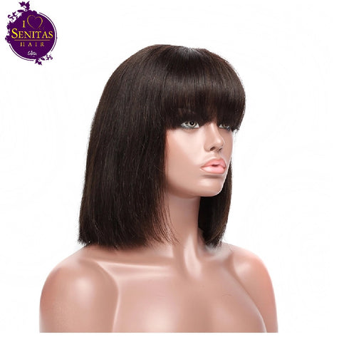 Wig Sales Bob Straight Wig - Senitas Virgin Hair Extension and Wigs
