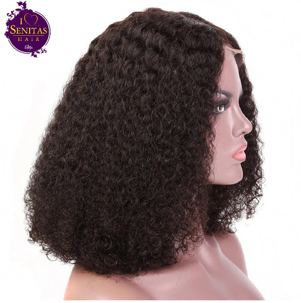Wig Curly Human Hair Short Wig - Senitas Virgin Hair Extension and Wigs