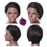 Wig Straight Short Frontal Lace Wig - Senitas Virgin Hair Extension and Wigs