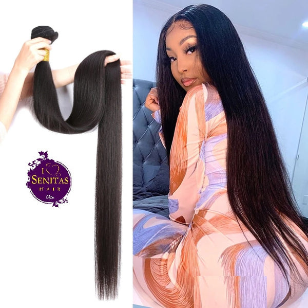 100% BRAZILIAN HAIR STRAIGHT - UNPROCESSED REMY HAIR