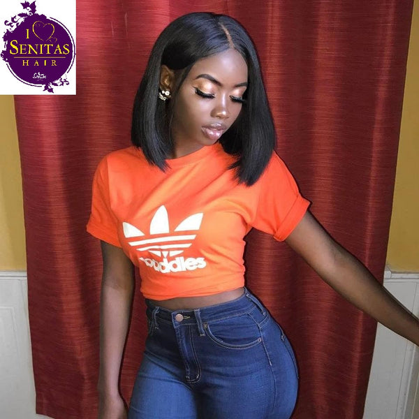 BOB WIG- Full Lace Wig Straight  - 100% Human Virgin Hair Extension Wig - Senitas Virgin Hair Extension and Wigs