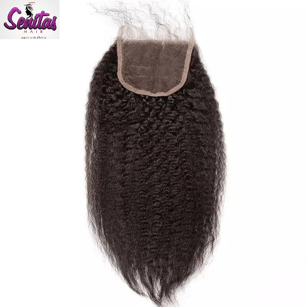 TOP CLOSURE - KINKY STRAIGHT - Senitas Virgin Hair Extension and Wigs