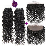 Brazilian Water Wave 2 Bundles + Frontal Lace Closure. 100% Unprocessed Virgin Hair Weaves... Senitas Hair - Senitas Virgin Hair Extension and Wigs