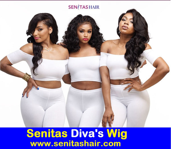 SENITAS DIVA'S WIG SC728:- CELEBRITY FULL LACE WIG - 100% VIRGIN HAIR