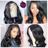 Frontal Lace Wig Body Wave 100% Unprocessed Virgin Human Hair Wig on Sale 180% Density
