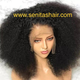 Frontal Wig Afro Kinky Curls 100% Raw Virgin Hair - Senitas Virgin Hair Extension and Wigs