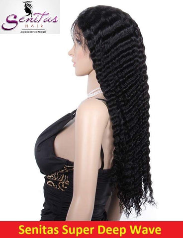 Unprocessed Full Lace Wig Deep Wave - HOT SALE