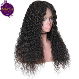 Lace Frontal Wig Wet and Wavy 100% Unprocessed Virgin Human Hair Wig on Sale 180% Density