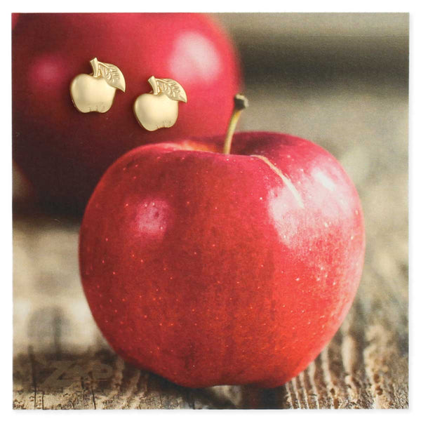 ZAD Gold Apple Earrings