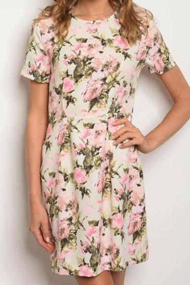 Exposure Astrid Short Sleeve Floral Dress