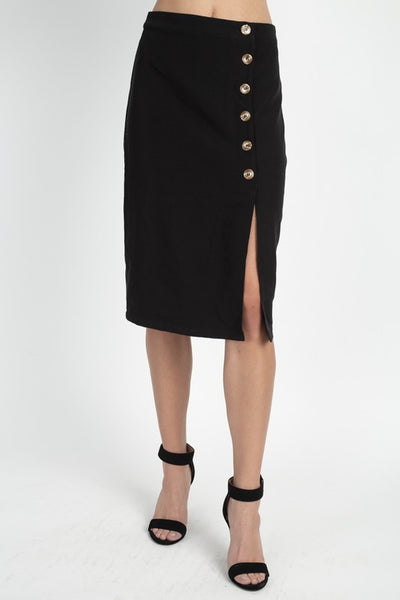 Iris Asymmetric Button Down Skirt