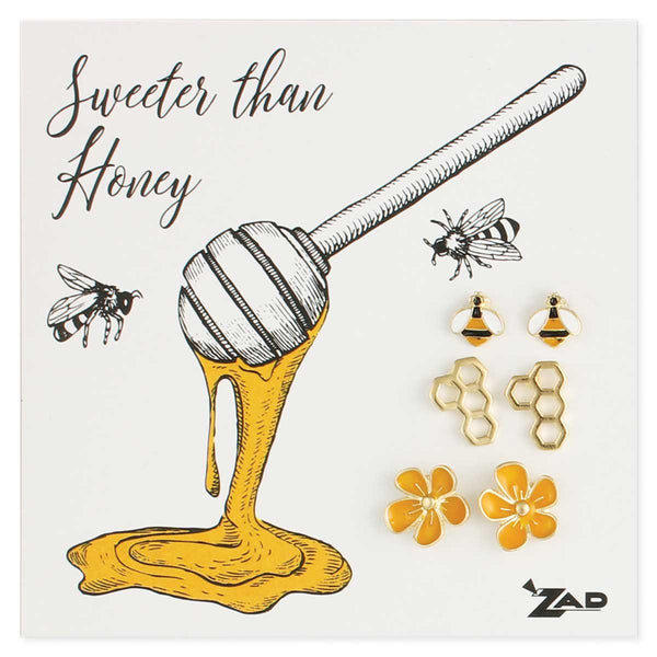 ZAD Honey Bee Earring Set