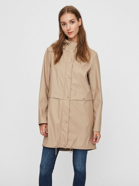 Vero Moda Everyday Coated Jacket Silver Mink