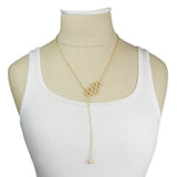 ZAD Honeycomb Bee Lariat Necklace