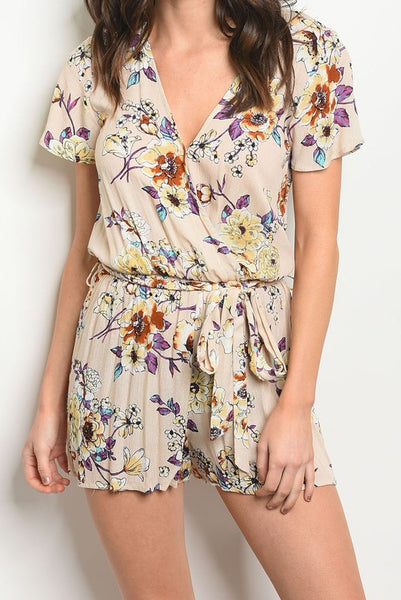 Exposure Floral Wrap Romper