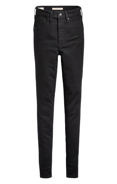 Levi's Mile High Super Skinny Jean in Black Galaxy