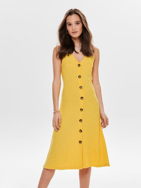 ONLY Nella SL Midi Button Dress