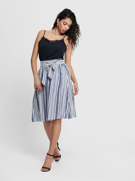 ONLY Lavana Stripe Cotton Skirt