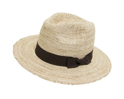 Panama Hat with Brown Bow