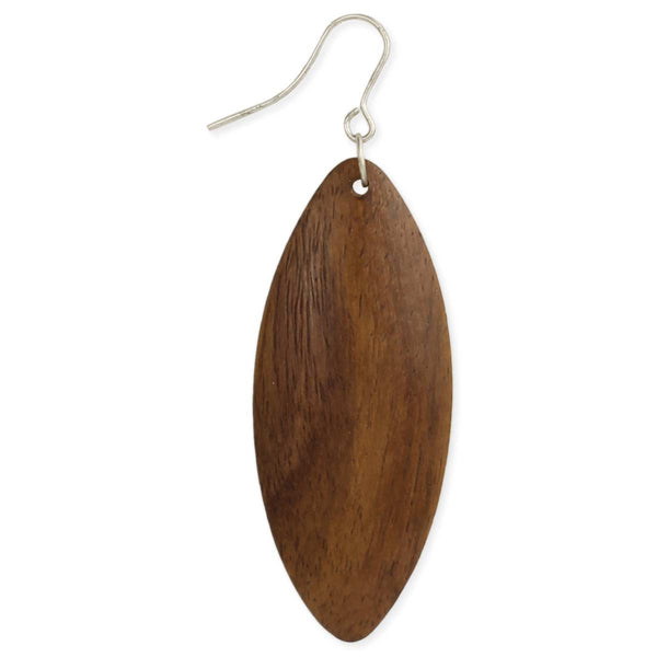 ZAD Solid Wood Marquis Earring