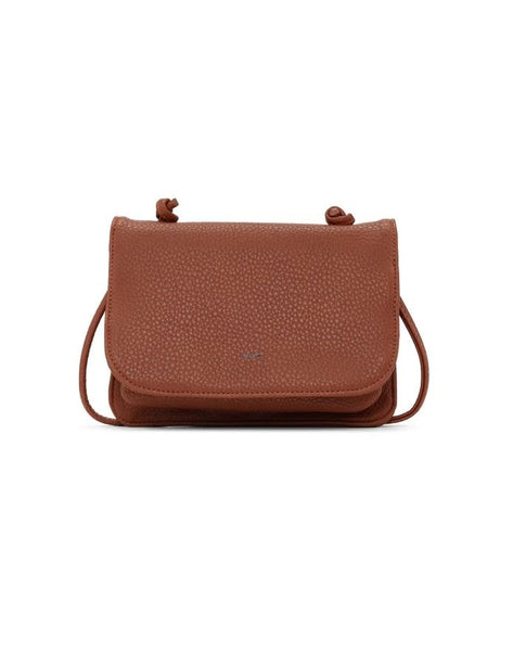 CO-LAB Pebbled Crossbody Cognac