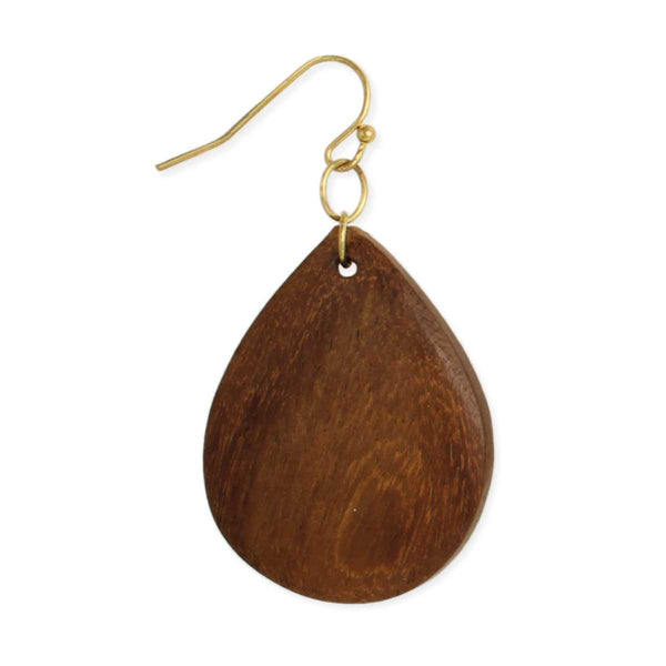 ZAD Wood Teardrop Earrings