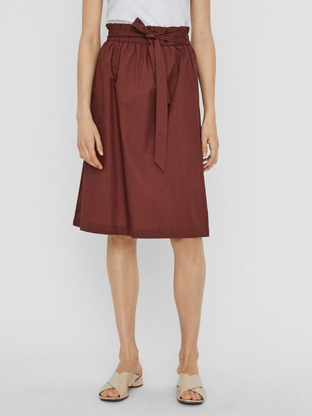 Vero Moda Noa Cotton Paperbag Skirt