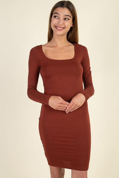 Iris Square Neck Bodycon Dress