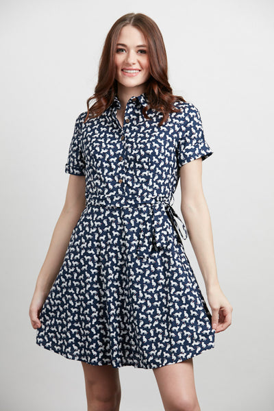 Exposure Cotton Cat Button Up Dress