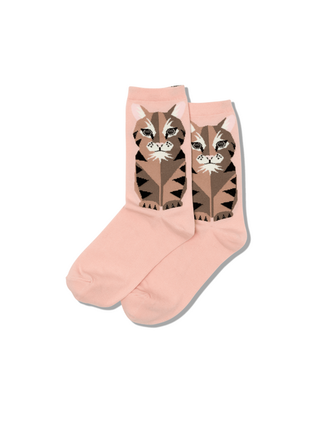 Hotsox Geometric Cat Face Socks